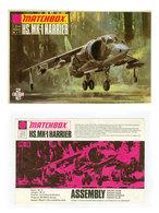 Vintage BOX ART + Instructions / Matchbox Model Kit HS.MK-1 Harrier AV-8A / Artwork - Airplanes