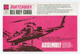 Original Vintage Instructions For Matchbox 1/72 Model Kit Bell Huey-Cobra - Airplanes