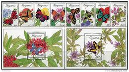 Guyana 1989. Michel #3039/46+Bl.#53/54 MNH/Luxe. Butterflies (Ts42/02) - Schmetterlinge