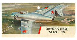Vintage BOX ART Airfix Header & Instructions Model Kit MiG-15 / Artwork - Airplanes