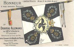 Thèmes - Publicité - CPA - Honneur à Nos Braves Soldats - La Solution Pautauberge - Publicité