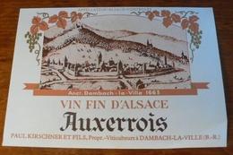 ALSACE : ETIQUETTE ANCIENNE AUXERROIS - NEUVE - Non Classificati