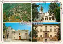 CPM Carpegna Veduta Aerea Chiesa Di San Leo Chiesa Parrocchiale Di San Giovanni Batista - Urbino