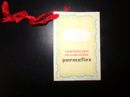 Certificato Di Garanzia Permaflex - Italie