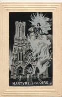 CPA 51 Cathédrale De REIMS Jeanne D'Arc Carte Tissées Martyre Et Gloire - Reims