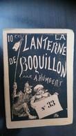 La Lanterne De Boquillon N°33 - 15 Juillet 1870 Albert Humbert - Livres, BD, Revues