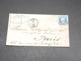 FRANCE - Lettre De Reims Pour Paris En 1856 , Affranchissement Napoléon - L 20249 - 1849-1876: Periodo Classico