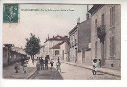 Sp- 54 - CHAMPIGNEULLES - Rue De Bellefontaine - Mairie Et Ecoles - Enfants - Fille - Garcon - Femme - Homme - Timbre - - France