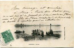 INDOCHINE CARTE POSTALE BIENHOA -LE BAC DEPART SAIGON-CENTRAL 11 NOV 04 COCHINCHINE POUR L'ANNAM - Cartes Postales