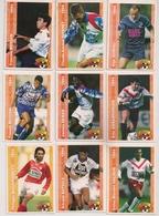 9 Cartes Panini Football 1994 Cards Official. Mazzucchetti Baticle Valdeir Rouissi Debah Assadourian Brisson Rivenet - Other