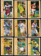 9 Cartes Panini Football 1994 Cards Official. Bazdarevic Moravcik Caveglia Dewilder Henry Slater Chaouch N'doram  Pabois - Other Collections