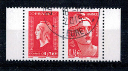 2015 N 4991 4992 PAIRE MARIANNES DULAC GANDON OBLITERE CACHET ROND #228# - Frankreich