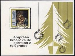 BRAZIL #1147 - CHRISTMAS  -  IMPERFORATED  S/S  1969 - MNH - Brazil