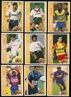 9 Cartes Panini Football 1994 Cards Official. Dangbeto Quilan Cauet  Dedebant El Haddaoui Dehu  Fiard  Oleksiak Otokoré - Sonstige
