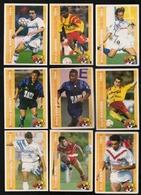 9 Cartes Panini Football 1994 Cards Official. Thomas Puel Martins Guérit Goudet Kana-biyik Magnier  Arsène Gorter - Other
