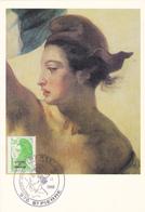 Carte Maximum ST PIERRE Et MIQUELON N° Yvert 463  (DELACROIX - LIBERTE) Obl Sp Ill 1er Jour (Ed Pierron) - Cartes-maximum