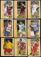 9 Cartes Panini Football 1994 Cards Official. Bossis Viaud  Lme Frapper Génesio Gava Huysman Kubik Serredqzum Ferreri - Other Collections