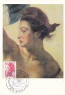 Carte Maximum ST PIERRE Et MIQUELON N° Yvert 464  (DELACROIX - LIBERTE) Obl Sp Ill 1er Jour (Ed Pierron) - Cartes-maximum