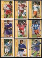 9 Cartes Panini Football 1994 Cards Official. Dutuel Hugues Debève Nemecek Grosselin Périlleux Enrique Barros Asanovic - Other Collections