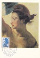 Carte Maximum ST PIERRE Et MIQUELON N° Yvert 466  (DELACROIX - LIBERTE) Obl Sp Ill 1er Jour (Ed Pierron) - Cartes-maximum