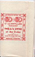 Tours-Saumur (37 Indre Et Loire) Publicité CIE DES ANTILLES Thé De Chine Et D'Inde (PPP14041) - Advertising