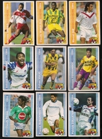 9 Cartes Panini Football 1994 Cards Official. Pagal Rabarinovy Colleter Kombouaré Vulic Fernandez Gnako Makelélé Dib - Other Collections