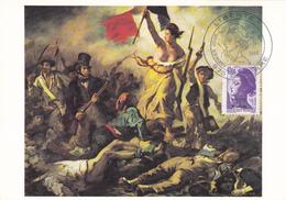 Carte Maximum ST PIERRE Et MIQUELON N° Yvert 469  (DELACROIX - LIBERTE) Obl Sp Ill 1er Jour (Ed Musées Nat) - Cartes-maximum