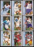 9 Cartes Panini Football 1994 Cards Official. Mahé Sonor Ayache Durand Casoni Sassus Sikora Ferri Fugier - Other