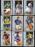 9 Cartes Panini Football 1994 Cards Official. Gros Blanc Der-zakarian Hadzibegic Weber Baills Carotti Verlaat Goma - Other