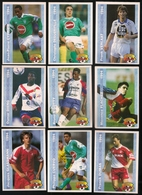 9 Cartes Panini Football 1994 Cards Official. Glassmann Cuervo Dumas Dieng N'gotty Flachez Cyprien Deguerville Verlaat - Other