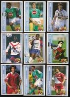 9 Cartes Panini Football 1994 Cards Official. Glassmann Cuervo Dumas Dieng N'gotty Flachez Cyprien Deguerville Verlaat - Other Collections
