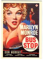 CPM  MARILYN MONROE Bus Stop - Affiches Sur Carte