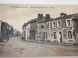 C.P.A.- Montbert (44) - Place De L'Eglise Et Rue De La Gare - Café De La Place - Maison Truin - 1924 - SUP (AK 6) - France