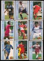 9 Cartes Panini Football 1994 Cards Official. Passi Foulon Cartier Baffoe Valéry Fournier Aubame Rollain Gaillot - Other