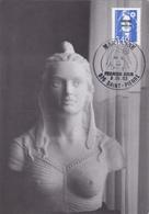 Carte Maximum ST PIERRE Et MIQUELON N° Yvert 555  (MARIANNE) Obl Sp Ill 1er Jour (Ed De Plonéour) - Cartes-maximum