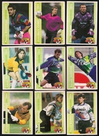 9 Cartes Panini Football 1994 Cards Official. Flucklinger Barrabé Marraud Perez Ferrand Sansone Rousseau Aubry Durand - Other Collections