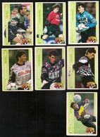 7 Cartes Panini Football 1994 Cards Official. Martini Montanier Piveteau Warmuz Nadon Rousset Casanova - Andere Sammlungen