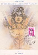 Carte Maximum ST PIERRE Et MIQUELON N° Yvert 572  (MARIANNE) Obl Sp 1er Jour (Ed Nugeron) - Cartes-maximum