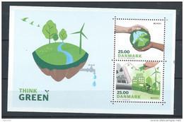 Danemark 2016 Bloc Neuf Europa Think Green, écologie - Blocks & Sheetlets