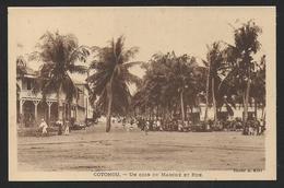 Dahomey - COTONOU - Un Coin Du Marché Et Rue - Dahomey