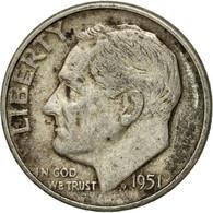 Monnaie, États-Unis, Roosevelt Dime, Dime, 1951, U.S. Mint, Philadelphie, TB - Bondsuitgaven
