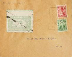 Colombia . Aéreo SOBRE. Yv 24a. 1921. 10 Ctvos Sobre 50 Ctvos Verde, Variedad De Sobrecarga (VAOLR), 1 Ctvo Verde Y 2 Ct - Colombia