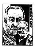 CPSM Hommage à Victor HUGO Ecrivain Tirage Limité Illustrateur LARDIE - Lardie