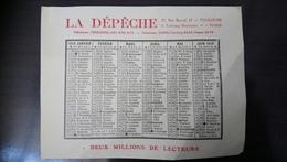 Calendrier La Dépêche 1919 - Calendriers