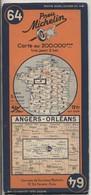 Carte Routière MICHELIN - N° 64: Angers - Orlèans. - Roadmaps