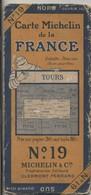 Carte Routière MICHELIN - N° 19: TOURS. - Strassenkarten