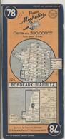 Carte Routière MICHELIN - N° 78 - Bordeaux - Biarritz - 1950 - Roadmaps