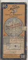 Carte Routière MICHELIN - N° 85 - Biarritz - Lucon - 1947 - Roadmaps