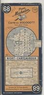 Carte Routière MICHELIN - N° 68 - Niort - Châteauroux - 1948 - Roadmaps