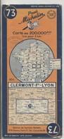 Carte Routière MICHELIN - N° 73 - Clermont-Fd - Lyon - 1950 - Roadmaps
